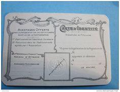 Carte de l'Association fraternelle des employés et ouvriers de chemin de fer français - 1932