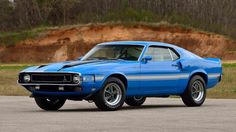 1970 Ford Mustang Shelby GT-500 in Grabber Blue