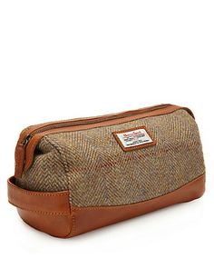 Buy the Pure Wool Harris Tweed Washbag from Marks and Spencer's range. Harris Tweed, Wash Bags, Winter Accessories, Travel Essentials, I Love Fashion, Men's Shoes, Zip Around Wallet, Autumn, Pure Products