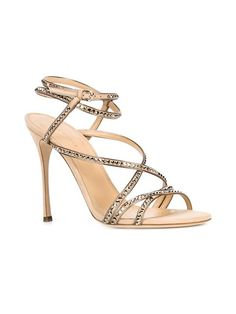 SERGIO ROSSI Crystal Embellished Strappy Sandals