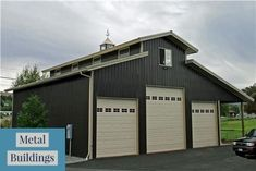Metal buildings shops homes and top rated garage buildings - Check Out THE PIC for Various Tips and Ideas. Pole Barn Garage, Garage House, Rv Garage, Garage Shop, Garage Doors, Metal Barn Homes, Pole Barn Homes, Pole Barns, Pole Buildings