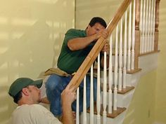 How to install stair railing #DIY