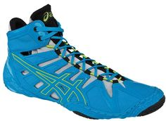 ASICS Omniflex Attack Wrestling Shoe Blue/Lime/Silver