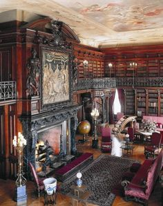 The Biltmore library. I first visited the Biltmore Mansion when I was around 5 or 6 and I remember being so fascinated by the library. It's always been my favorite room in the house. This is my dream library.