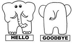 Resultado de imagen para hello goodbye elephant