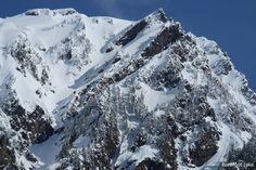 Snow capped Burke Range, Olympic National Park.