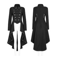 Punk Rave Militär-/Uniform-Mantel | BOUDOIR NOIR Viktorianischer Steampunk, Steampunk Clothing, Gothic Clothing, Steampunk Fashion Women, Steampunk Jacket, Gothic Jewelry, Gothic Mantel, Moda Medieval, Mantel Outfit