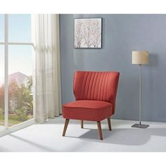 Uttermost Sheelah Cherry Red Accent Chair | Products | Pinterest | Red  Accent Chair And Red Accents