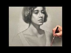 """Portrait of Megan"" - Charcoal and white chalk pencils. - YouTube"