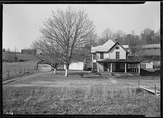"""File:""""The homestead of Sherman Stiner, Lead Mine Bend, Union County, Tennessee. Stiner is a prosperous and progressive. Hereford Cattle, Tennessee Valley Authority, Lake Pictures, Old Barns, Farm Life, Time Travel, Homesteading, Vintage Photos, Acre"""