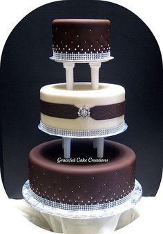 Indian Weddings Inspirations. Brown Wedding Cake. Repinned by #indianweddingsmag | http://specialweddingcakeforyou.lemoncoin.org