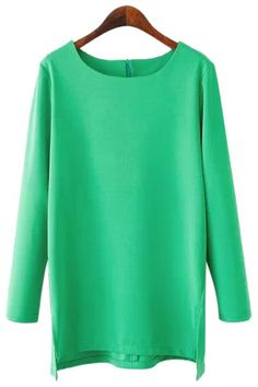 SHARE & Get it FREE | Casual Style Scoop Neck Solid Color Side Slit Asymmetrical Long Sleeve T-Shirt For WomenFor Fashion Lovers only:80,000+ Items • New Arrivals Daily • Affordable Casual to Chic for Every Occasion Join Sammydress: Get YOUR $50 NOW!
