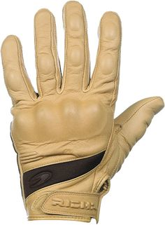Cafe Racer Cool - Richa Custom Gloves with tan goat's leather.