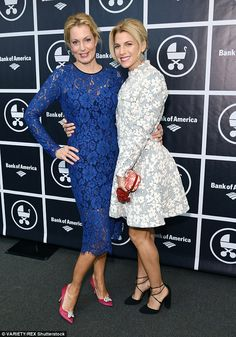 Blondes ambitions: Ali and Jessica pose together at An Evening With Jerry Seinfeld and Amy...