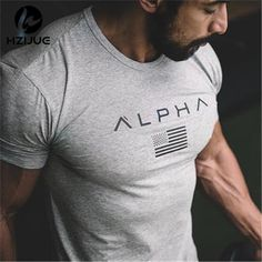 c6547c26e61 HZIJUE 2017 New Brand clothing Gyms Tight t-shirt mens fitness t-shirt homme  Gyms t shirt men fitness crossfit Summer top