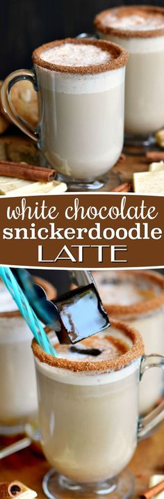 This White Chocolate Snickerdoodle Latte will delight your taste buds and all from the convenience of your own home! Making your own coffeehouse style latte has never been easier or more delicious! Make it hot or iced with my favorite iced coffee trick... // Mom On Timeout