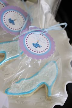 Glass Slipper Cookies :Cinderella Party