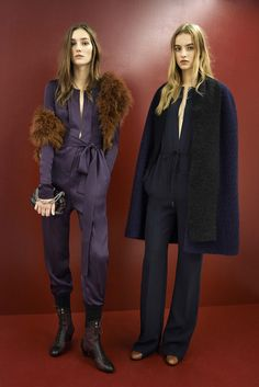 35 New Fashion Ideas That Might Change Everything #refinery29  http://www.refinery29.com/pre-fall-fashion-ideas#slide-32  Jumpsuits are getting a little bit of a '70s vibe. Wear yours with a faux fur shrug and three-day-old hair.