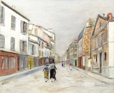 Bonhams   Auction: Impressionist and Modern Art, 4 Feb 2016, London   Lot 12   Maurice Utrillo (1883-1955) Rue à Montmartre (Painted circa 1933 - 1935)   Estimate: £100,000 - 150,000, €130,000 - 190,000