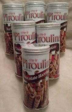 6 Creme de Pirouline Artisan Rolled Wafers Hazelnut & Dark Chocolate 3.25 oz…