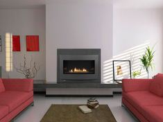 Modern Faux Fireplace Insert With Glass Tile Wall | Fireplace Ideas |  Pinterest | Faux Fireplace Insert, Faux Fireplace And Fireplace Inserts