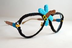 Crocheted sunglasses - party idea