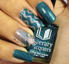 Literary Lacquers: Salt and Sweetness Nail Art