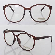 1148a5a8ee8 Women Mens Eyewear Retro best Nerd Clear Lens Spectacles Eyeglasses Brown