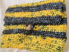 Recycled Plastic Bumble Bee Clutch by SmallGreyCat on Etsy, $15.00
