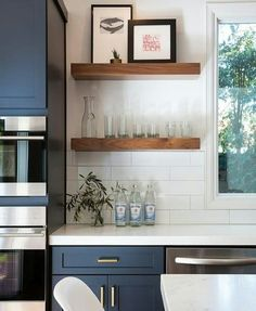 Open shelving in the kitchen is always awesome!
