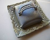 Cheese Dish or Single Stick Butter Dish with Baroque Square Tray