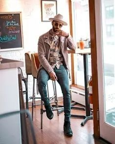 Men's Outfits 2021 | Lookastic Sweet Style, Cool Style, Black Leather Biker Jacket, Semi Casual, Mens Trends, Mens Style Guide, Gentleman Style, Shirt Jacket, Well Dressed