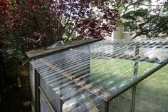 Clear corrugated polycarbonate roofing panels