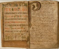 """From the """"Antwerp Sedulius"""", a century manuscript of the """"Carmen Paschale"""" by the century poet Coelius Sedulius. Carolingian, Antwerp, Spirituality, Poet, Witchcraft, Witch Craft, Spiritual, Magick"""