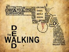 Revolver Typography (The Walking dead) by gbr91.deviantart.com on @deviantART