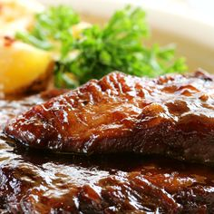 Finger lickin and crowd pleasin.. Whiskey Grilled Ribs Recipe from Grandmothers Kitchen.