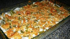 """Not Your Average Green Bean Casserole! - """"This is so much better than average green bean casserole. My family' s favorite.and a Thanksgiving must! Thanksgiving Green Bean Casserole, Thanksgiving Green Beans, Best Green Bean Casserole, Thanksgiving Recipes, Holiday Recipes, Holiday Meals, Christmas Dinners, Thanksgiving 2013, Bean Recipes"""