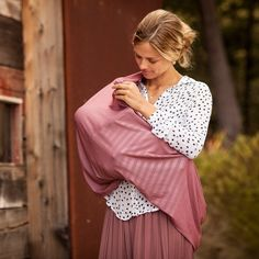 Nursing Scarf-Premium Cotton Jersey in Marsala print- by Bebe au Lait