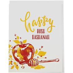 happy rosh hashanah Apples and honey are all part of the Rosh Hashanah tradition.Send wishes for a sweet new yearwith this tasty-looking card. front greeting:happy rosh hashanah ins When Is Rosh Hashanah, Happy Rosh Hashanah, Rosh Hashanah Cards, Rosh Hashanah Traditions, Rosh Hashanah Greetings, New Year Diy, New Year Card, Jewish Year, Jewish Crafts