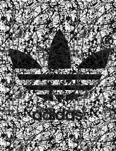 Jackson Pollock 100 anniversary Adidas poster