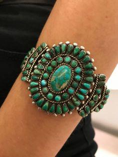 Native American Jewelry - Navajo cluster bracelet FOR SALE - Ruby Jewelry, Dainty Jewelry, Bohemian Jewelry, Turquoise Jewelry, Modern Jewelry, Jewelry Shop, Gemstone Jewelry, Vintage Turquoise, Native American Jewellery