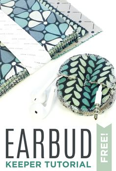 Make a Cute Earbud Keeper in 5 Minutes with Fabric Scraps! Video tutorial by @CraftyGemini