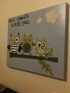 Owl always love you wall art