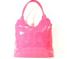 Neiman Marcus Hot Pink Shiney Tote Bag Shoulder Bag Handbag Purse Baby Diaper US | eBay-Idantiques07