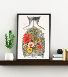 nature inside an open human back anatomy science prints a4 wall art anatomy art anatomy home office
