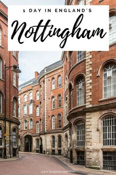 There's a lot to see and do in 1 day in Nottingham, from the castle to the Robin Hood statue and all the secret streets and tunnels. Nottingham Castle, Nottingham City, Nottingham Lace, Beautiful Places To Visit, Cool Places To Visit, England And Scotland, England Uk, Travel England, Travel Goals