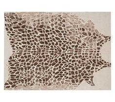 Ken Fulk Giraffe Printed Rug $799.00 #potterybarn