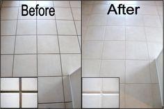 Floor Tile Grout Color Change