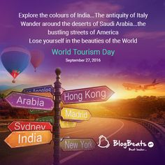 On this Explore and Discover ever corner of your World. Tourism Day, Travel And Tourism, Festivals, Special Events, Beats, Corner, Explore, World, The World