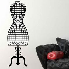 Cool Dressmaker Mannequin Vintage Wall Sticker